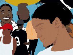Ilustração digital representando pessoas jovens e negras.